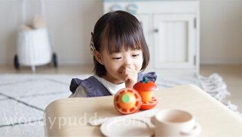 【直営店】ウッディプッディはじめてのおままごとサラダセット木箱入り(特典つき)【WOODYPUDDY野菜食材マグネット子供woodypuddy木のおままごとセット木のままごと木製知育玩具キッチン】