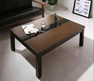 こたつ 本体 ローテーブル センターテーブル おしゃれ 安い 木製 リビングテーブル ちゃぶ台 ( 机 長方形 75×105cm) 4人 大きい 約 高さ40 ガラス ウォールナット 高級 シンプル デザイナーズ モダン