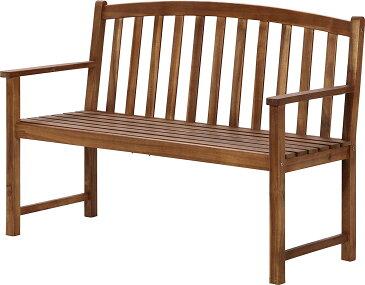 ガーデンベンチ ガーデンチェアー 木製 長椅子 チェアー いす 椅子 屋外 野外 ガーデン ベランダ バルコニー テラス 庭 ブラウン 茶色 デッキチェア キャンプ アウトドア 背もたれ付き 2人用 えん台 公園ベンチ 腰掛け 木製ベンチ 屋外ベンチ