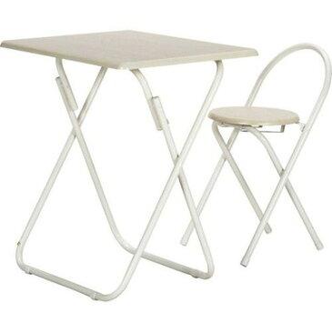 折りたたみ 簡易テーブル 作業台 テーブル チェアー セット ホワイト 白 【サイドテーブル テーブル キャスター ナイトテーブル フリーテーブル ベッドテーブル トレーテーブル コーヒーテーブル 送料無料 ポイント】