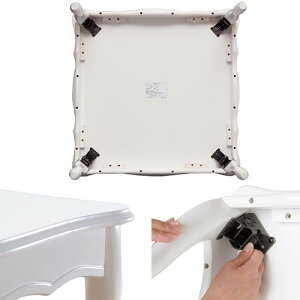折れ脚式猫脚テーブル75×75cmテーブルローテーブル姫系家具