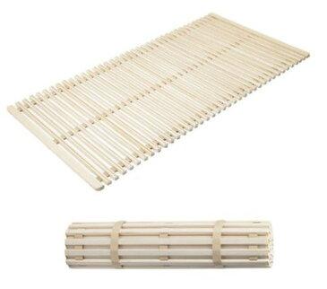 すのこベッド 木製 ロール式 シングル 通気性 折りたたみ 収納 ロールタイプ 桐 折りたたみベッド コンパクト 小さい スリム 防カビ 軽量 すのこマット カビ 床板 のみ 和室 ローベッド ロータイプ フロア 低床