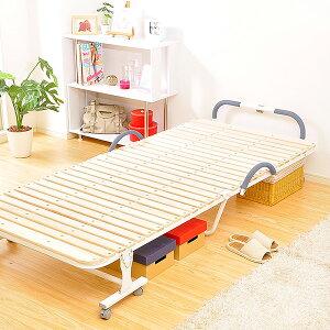折りたたみすのこベッドシングル【ベッドすのこベッドマットマットレス木製シングル寝具睡眠快眠安眠収納引出し付き子供部屋送料無料】