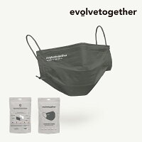 【evolvetogether】evolvetogethermask30facemaskspack/イヴォルブトゥギャザーマスク30枚入り/海外NYデザイナーアメリカ著名人高機能ブラックカーキホワイト