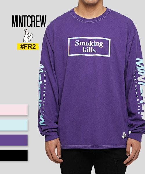 トップス, Tシャツ・カットソー FR2xMINTCREWFR2xMINTCREW SmokingKills LS Tee T LA