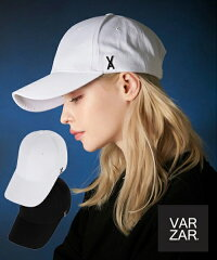 【VARZAR】STUDLOGOOVERFITBALLCAP/バザールスタッズロゴオーバーフィットベースボールキャップ/韓国ファッション帽子ハット大人気アイドルユニセックスメンズレディースシンプル黒白BTSTWICEASTRONCT