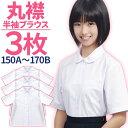 【お得3枚セット】スクールシャツ 女子 丸襟 半袖 抗菌防臭...