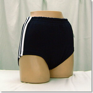 (財)日本中学校体育連盟推薦!ギャレックス製体操服の白二本線裏綿ブルマ。仕様は昭和時代そのま...