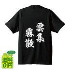 雲集霧散 (うんしゅうむさん) オリジナル Tシャツ 書道家が書く プリント Tシャツ 【 四字熟語 】 メンズ レディース キッズ S M L LL XL XXL 120 130 140 150 G-S G-M G-L