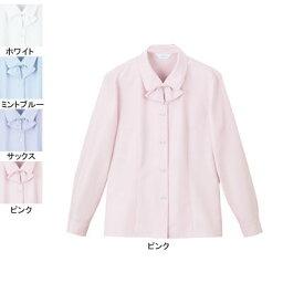 事務服・制服・オフィスウェア ピエ B2601-38 長袖ブラウス 17号〜19号
