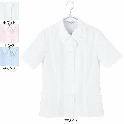 事務服・制服・オフィスウェア ピエ B2430-01 半袖ブラウス 15号・ホワイト