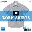 Lee 半袖シャツ メンズワークシャツ Lee WORKWEAR ヒッコリー インディゴ リー WORK SHIRTS bm-lws46002