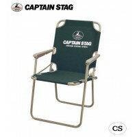 CAPTAIN STAG CS パイプフォールディングチェア(グリーン) M-3873