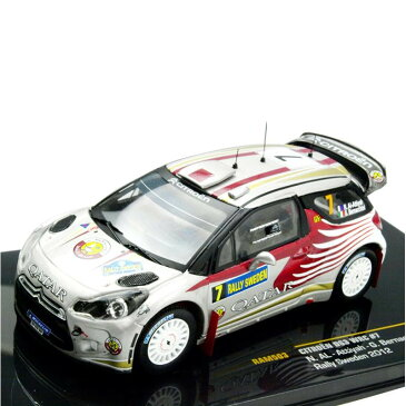 ixo/イクソ シトロエン DS3 WRC 2012年 ラリースウェーデン ♯7 N.AL-Attiyah/ G.Bernacchini 1/43スケール RAM503【送料無料】
