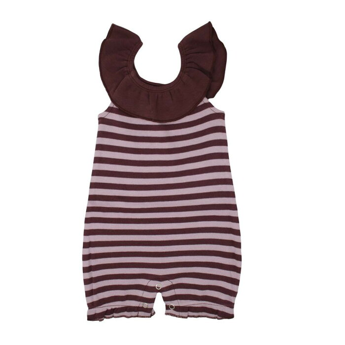 L'ovedbaby Stripe-A-Pose Collection ストライプ バブル ロンパー sap-419 ラベンダー/エッグプラント・9〜12ヵ月【送料無料】
