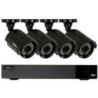 Q-Seeセキュリティ監視カメラセットHD1080p屋内/屋外カメラ×4台4chDVRHD1TBナイトビジョン夜間暗視カメラ防犯QTH43-4CN-1