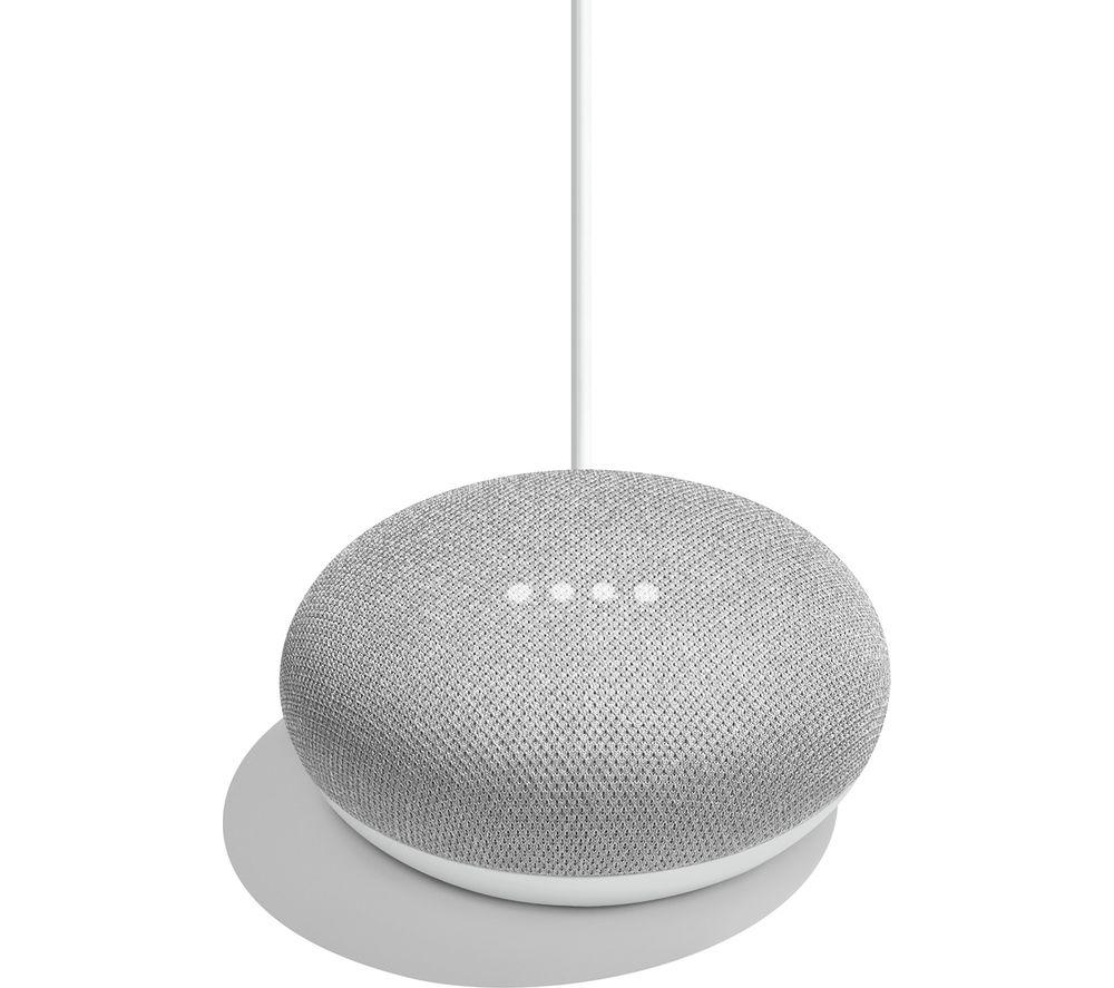 ◆Google Home Mini チョーク◆ グーグル ホーム  ミニ チョーク 「Google アシスタント」に対応した小型スマートスピーカー bluetooth 4.1 Wi-Fi 音声 認識 ハンズフリー グレー 人工知能AI IOT Android iOS GA00210JP 842776102461