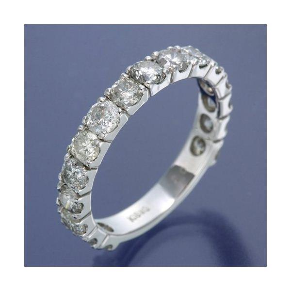 K18WG ダイヤリング 指輪 2ctエタニティリング 15号