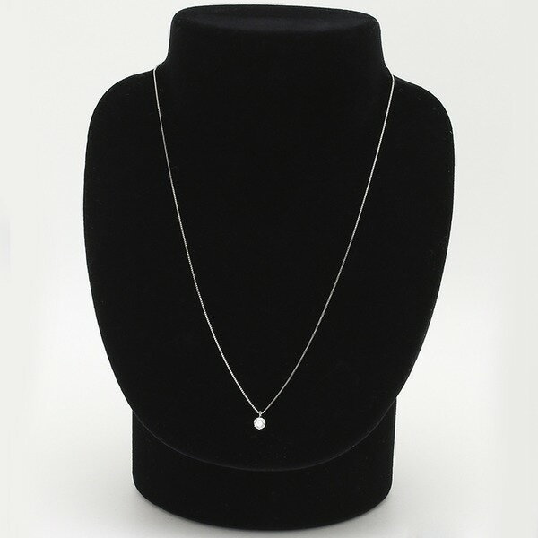 ダイヤモンドペンダント/ネックレス 一粒 K18 ホワイトゴールド 0.3ct ダイヤネックレス 6本爪 Iカラー SIクラス Excellent 中央宝石研究所ソーティング済み