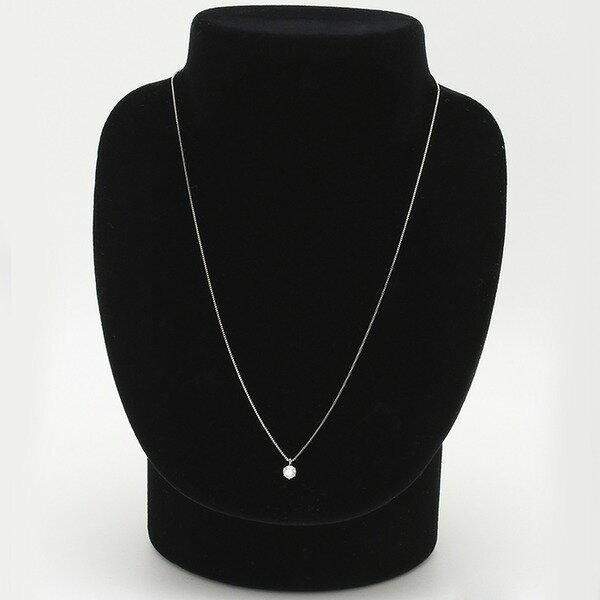 ダイヤモンドペンダント/ネックレス 一粒 プラチナ Pt900 0.3ct ダイヤネックレス 6本爪 Gカラー SIクラス Excellent 中央宝石研究所ソーティング済み