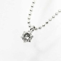 純プラチナ0.1ct6爪ダイヤモンドペンダント/ネックレス【代引不可】