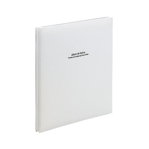 【送料無料】ナカバヤシ 100年台紙アルバム アH-LD-191-W ホワイト 1冊画像