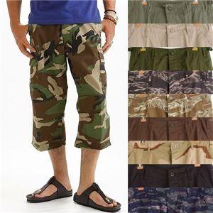 アメリカ軍 BDU クロップドカーゴパンツ /迷彩服パンツ  リップストップ オリーブ