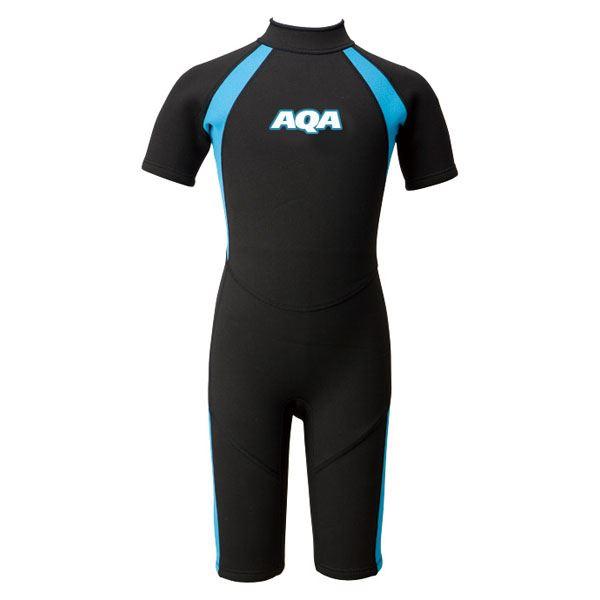 【送料無料】AQA(アクア)キッズスーツスプリングIIKW4504Aブラック×ライトブルー140