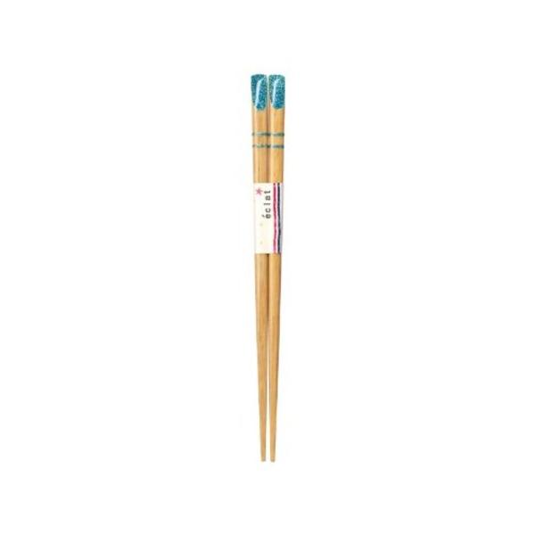 日本製 Japan 若狭 田中箸店 eclat(エクラ) ブルー 16.5cm 065625