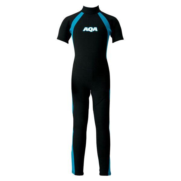 【送料無料】AQA(アクア)キッズスーツシーガルIIKW4505Aブラック×ライトブルー110