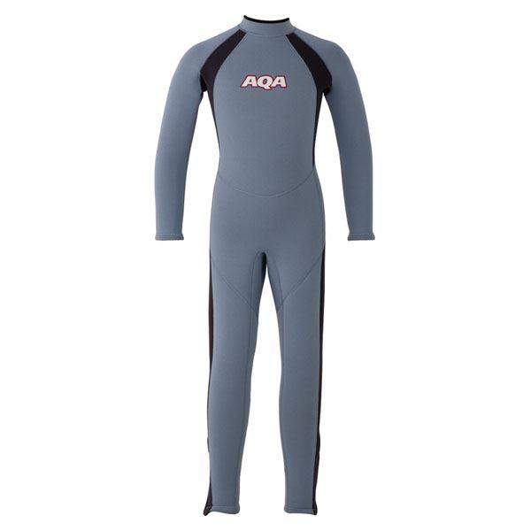 【送料無料】AQA(アクア)キッズフルスーツKW4506Aスモークブルー×マットブラック100