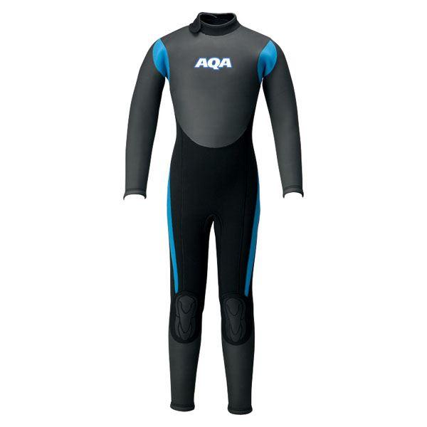 【送料無料】AQA(アクア)キッズスキンフルスーツIIIKW4507Aブラック×ブルー120