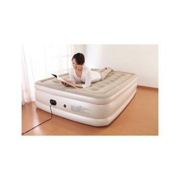 【送料無料】電動エアーベッド/簡易ベッド 【シングルサイズ】 電動ポンプ内蔵 収納袋付き 厚さ約46cm【代引不可】