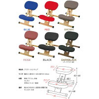 【送料無料】プロポーションチェア/姿勢矯正椅子【ブラック】木製座面高さ調整可/キャスター付き【代引不可】