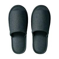 【送料無料】(まとめ)TANOSEE外縫いスリッパブッチャー大きめLチャコール1足【×5セット】
