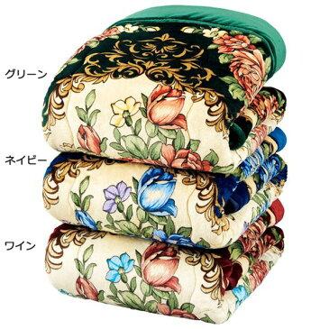 【送料無料】ボリュームたっぷり軽くて暖かい5層構造毛布セット 【シングル 3色組 グリーン・ネイビー・ワイン】 洗える 厚手 発熱 吸湿