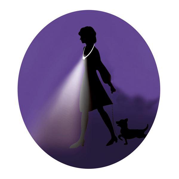 手ぶライト/LEDライト  LED2灯使用 ストラップ:2段階長さ調節可 〔ウォーキング ペットの散歩 夜間作業 夜釣り〕