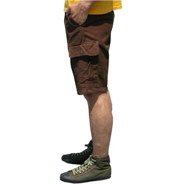 山岳猟兵用登山パンツ ドイツ連邦国軍 モルスキンショートパンツ 後染め ブラウン Gr8(88cm)