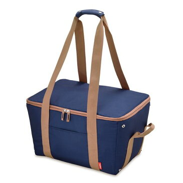 【送料無料】【THERMOS サーモス】 保冷 レジカゴバッグ 【ブルー】 25L 折りたたみ 手くるみ・底板付き