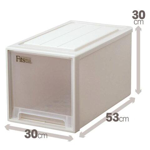 【送料無料】クローゼット収納/衣装ケース 【幅30cm×高さ30cm】 スリム 『Fits フィッツケース』 日本製