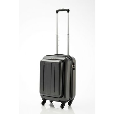 【送料無料】スーツケース/キャリーバッグ 【フロントオープン ブラックカーボン】 29L 機内持ち込みサイズ 『マンハッタンエクスプレス』【代引不可】