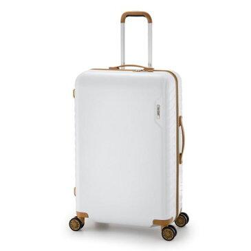 【送料無料】スーツケース/キャリーバッグ 【ホワイト】 90L 手荷物預け無料最大サイズ ダイヤル式 アジア・ラゲージ 『MAX SMART』