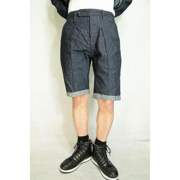 VADEL  intuck trousers shorts INDIGO COMB サイズ48【代引不可】