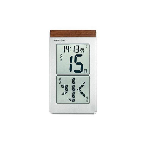 【送料無料】メガ曜日日めくり電波時計 HM-301【代引不可】