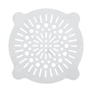 【送料無料】浴室 排水口フィルター/風呂掃除 【丸大 10枚入】 貼ってヘアーストッパー ホワイト レック 【240個セット】