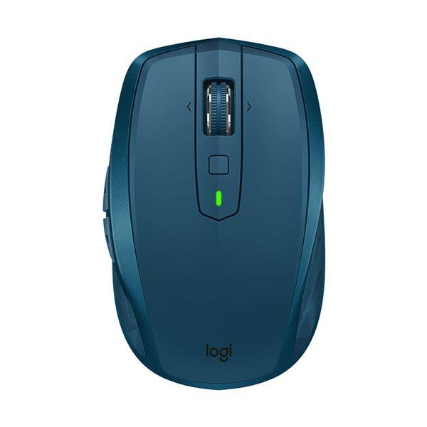 【送料無料】(まとめ)ロジクール MX Anywhere 2Sワイヤレス モバイルマウス ミッドナイト ティール MX1600sMT 1個【×3セット】