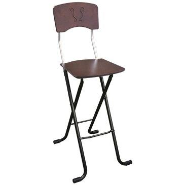 【送料無料】折りたたみ椅子 【2脚セット ダークブラウン×ブラック】 幅40cm 日本製 スチールパイプ 『レイラチェア ハイ』【代引不可】
