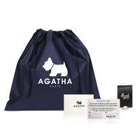 【送料無料】AGATHA(アガタ)AGT161B-12型押しスコッティタッセル付ミニクロスバッグ/アイボリー