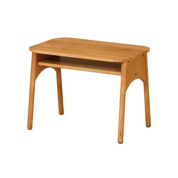 【送料無料】北欧風 センターテーブル/ローテーブル 【ナチュラル】 幅600mm 木製 棚板付き 〔リビング ダイニング〕 組立品【代引不可】