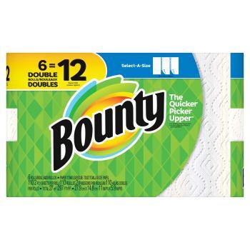 Bounty Paper Towels 3Rolls バウンティ ペーパータオル 6ロール(279×149mm2枚重ね105シート×6ロール) ペーパータオル キチぺ コストコ